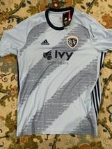 Sporting KC Kansas City Men's Adidas Authentic Soccer MLS Jersey NWT XL - $36.00