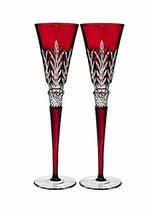 Waterford Crystal Ruby Flutes Times Square  New Years Eve Kindness NY 20... - $391.05