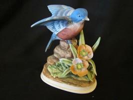 Bluebird 7703 Hand Painted Porcelain Figurine - $7.50