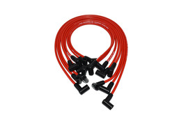 A-TEAM SMALL BLOCK CHEVY SBC 350 RED 8MM HEI SPARK PLUG WIRES OVER VALVE COVER
