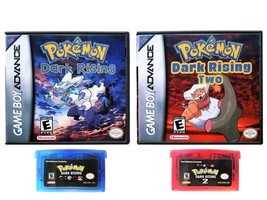 Pokemon Dark Rising 1 & 2  - Custom Case Combo (Game Boy Advance GBA) Fa... - $43.19