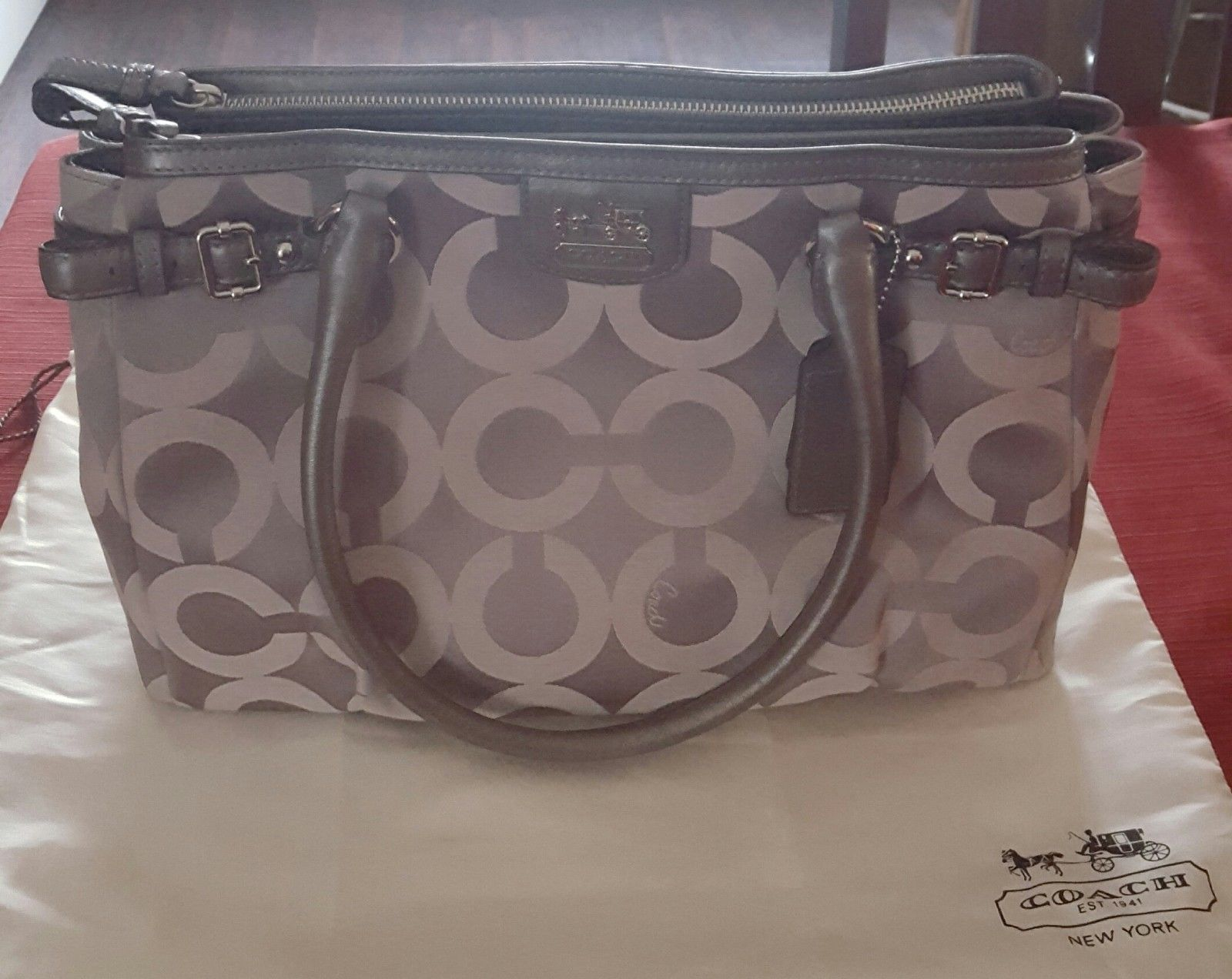 53440ef28c96 New With Tags Authentic Coach Madison Op Art and 50 similar items