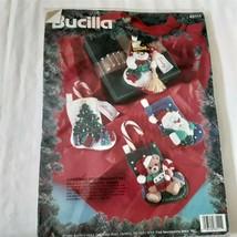Bucilla Felt Applique Stockings Gift Set of 4 - $28.60