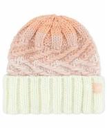 adidas Women's Canyon Fold Knit Beanie, White/Pink, OS - $18.90