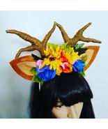 Floral Deer Antlers Headband - $30.00
