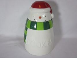 Hallmark Ceramic Snowman Cookie Jar 2015 VIP Gift Christmas - $15.83