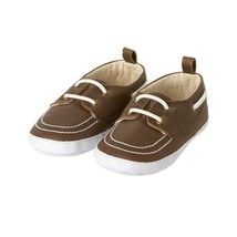 NWT Gymboree Blooms & Boats Baby Boys Brown Crib Boat Shoes Size 1 2 3 - $10.99