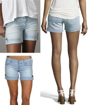 $150 James Jeans Ivan Cicily Light Wash Cuffed Stretch Denim Shorts 30 (10) - $88.20