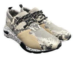 Steve Madden Cliff Natural Snake Sneakers Glitter Womens Size 10 Fast Sh... - $53.89