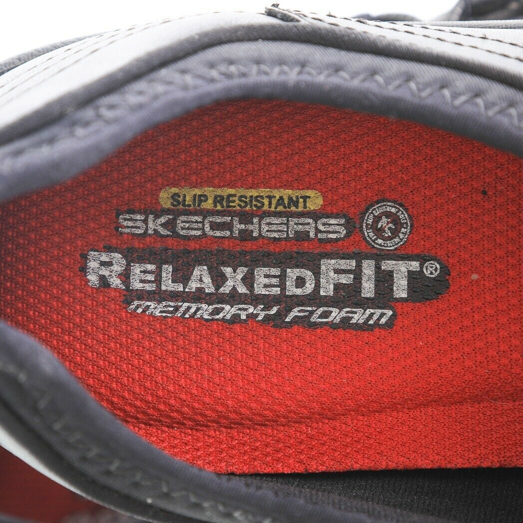 Skechers Work Black Relaxed Fit Fashion Sneakers Slip On Memory Foam Womens 9 image 5