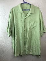 Tommy Bahama Mens 100% Silk Green Large Shirt - $21.46