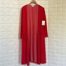 LulaRoe red Sarah long kimono - $45.54
