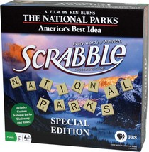 New Scrabble The National Parks Special Edition Bamboo Tiles Sealed Game... - $39.96