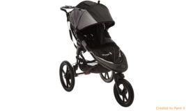 Baby jogger summit x3 multi terrain swivel wheel single jogging stroller  black thumb200