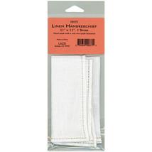 "Lacis Linen Handkerchief 11""X11"" Single Spoke-White - $8.75"