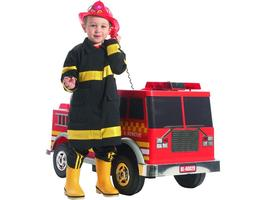 KIDS RIDE ON FIRE TRUCK LOOKS AUTHENTIC 12V WORKING PA SYSTEM, LIGHTS, SOUNDS image 2