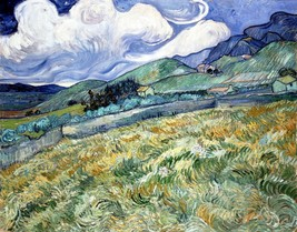 Landscape from Saint-Rémy Painting by Vincent van Gogh Art Reproduction - $32.99+