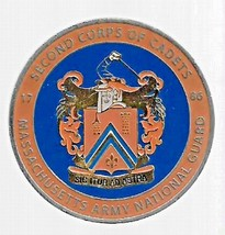 US Army NATIONAL GUARD Massachusetts Second Corps of Cadets Challenge Coin - $19.79