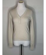 MaxMara Weekend Womens Cashmere Sweater Pullover V-Neck Beige Sz XS S - $39.95