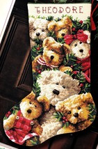 Dimensions Teddy Togetherness Bears Christmas Needlepoint Stocking Kit 9136 - $196.95