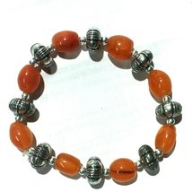 Natural Red Carnelian Gemstone Hand Craft cub Shape Bracelet - $12.99