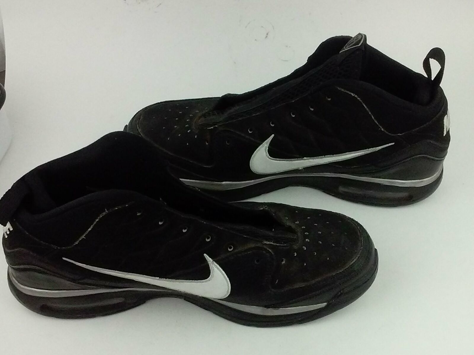 890578b64a4 ... Nike Mens Blue Chip 367182 011 Black With White Swoosh Basketball Shoes  ...