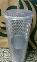 NEW Winter Holiday Starbucks 2019 Venti Bling Platinum Studded Tumbler R... - $36.63