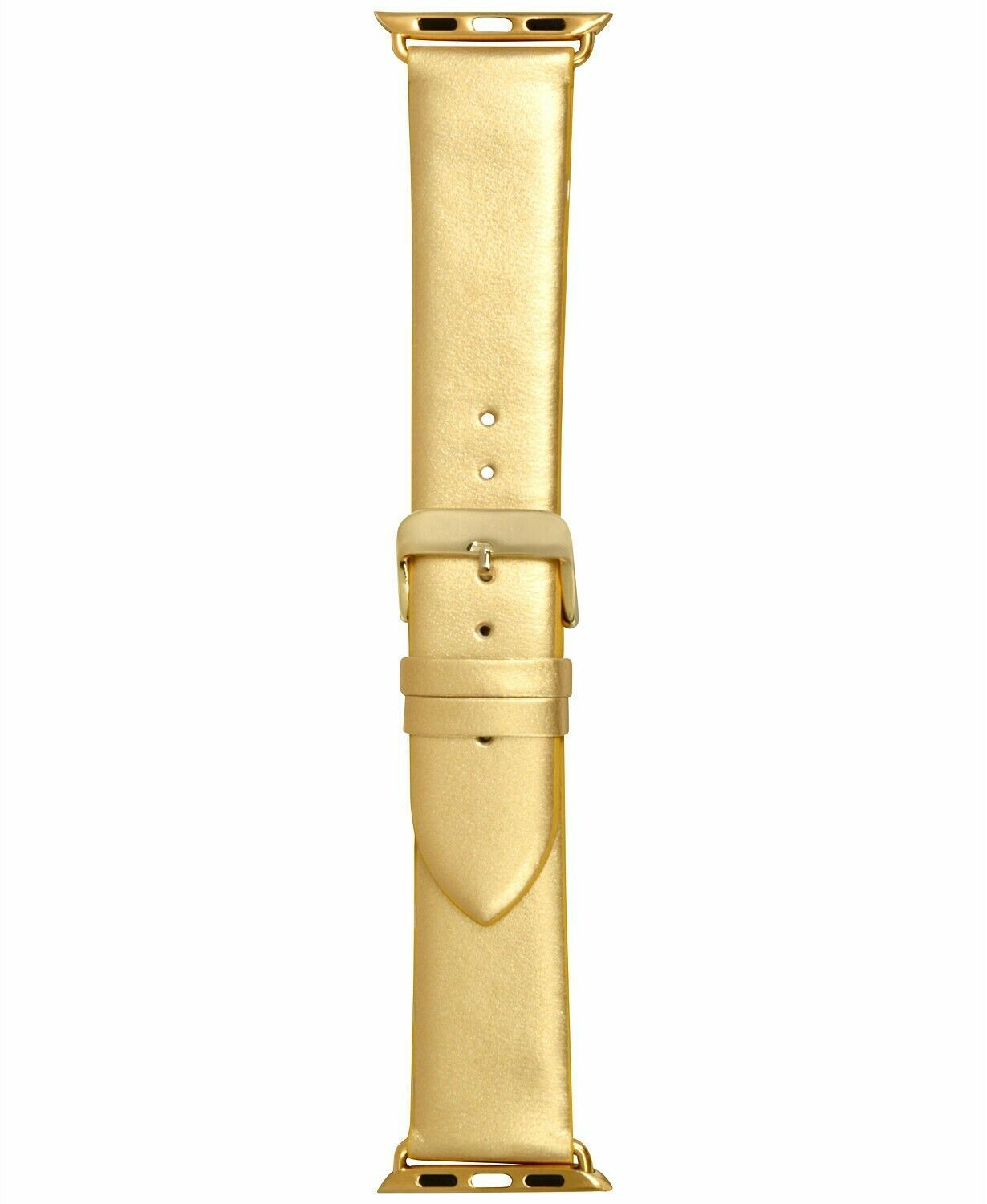 NEW I.N.C. Women's Metallic Gold-Tone Faux Leather 42mm Apple Watch Band Strap