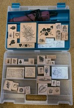 40 Stampin Up Stamps Case and Embossing Tool - $25.00
