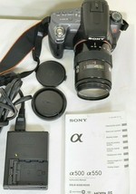 Sony Alpha DSLR-A550 14.2MP DSLR Camera Minolta Maxxum 35-105mm f/3.5-4.5 AF Len image 1