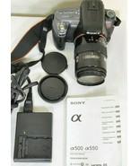 Sony Alpha DSLR-A550 14.2MP DSLR Camera Minolta Maxxum 35-105mm f/3.5-4.... - $227.69