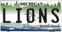 Lions Michigan State Background Metal License Plate Tag (Lions) - $11.95