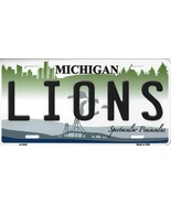 Lions Michigan State Background Metal License Plate Tag (Lions) - $11.35