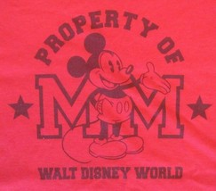 Disney World Property Of Mickey Mouse Red Tank Sleeveless T-Shirt Xxl 2XL Euc - $17.75