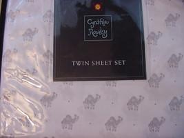 Cynthia Rowley Gray Camels on White Microfiber Sheet Set Twin - $38.00