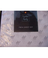 Cynthia Rowley Gray Camels on White Microfiber Sheet Set Twin - $39.95