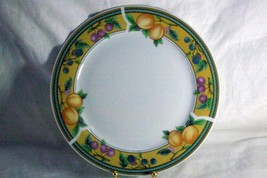 "Royal Norfolk Fruit On Yellow Band Dinner Plate 10 1/8"" - $7.19"