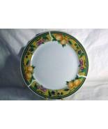 "Royal Norfolk Fruit On Yellow Band Dinner Plate 10 1/8"" - $7.19"