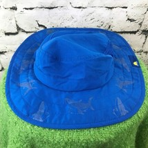 Sun Protection Zone Boys One Sz Hat Blue Whales Bucket Vented Drawstring... - $14.84