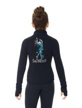 Mondor Model 24488 Polartec Skating jacket With Sequin Applique Black child 4-6 - $110.00