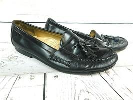 Cole Haan Tassel Black Leather Men's Loafer Size 10D ~ Model 1684 Pre-Owned - $23.70