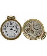 1943-A 16 size open face Railroad pocket watch Hamilton 21 Jewels Gold 10K - $495.00