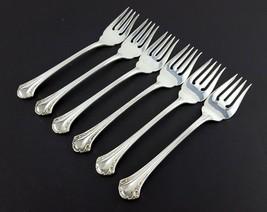 """1847 Rogers Bros BERKLERY 6 Salad Forks 7-1/8"""" Silverplate Korea - $33.66"""