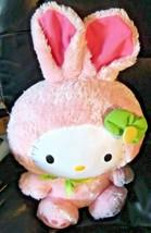 "TY Hello Kitty Pink Bunny Rabbit Plush 15"" Sanrio - $18.49"