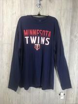 Genuine Merch Minnesota Twins Mens Multicolored Longsleeve Tee Size XL M... - $11.88