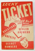 Vintage LUCKY TICKET Game No. 1 Complete - Circa 1950's by Whitman - $10.00