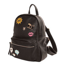 Women's Mesh Pop Art Vegan Leather Zipper Backpack Purse Girls Shoulder Bag image 3