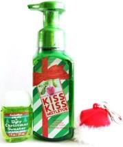 Bath & Body Works Kiss Kiss Mistletoe Hand Soap, Ugly Sweater PocketBac ... - $18.33