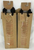 Rae Dunn Wine Bottle Bags Kraft Brown Set/6 MERRY CHRISTMAS CHEERS NAUGH... - $23.36