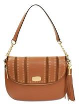 Michael Kors Shoulder Bag Satchel Tan Acorn Brown Mini Grommet Leather M... - $264.36